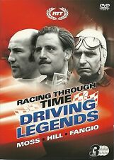 DRIVING LEGENDS STIRLING MOSS, GRAHAM HILL & JUAN MANUEL FANGIO - FORMULA 1 DVDS
