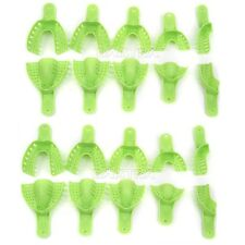 CA 2kits Dental Impression Trays Autoclavable for Repeated use green 10pc/set