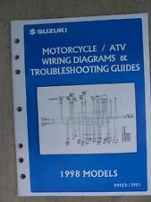 1998 Suzuki Motorcycle ATV Wiring Diagram Manual W Model Troubleshooting Guide J