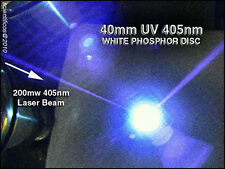 White Phosphor Target 2 Inch Diameter For Blu-Ray 405nm UltraViolet Uv Lasers