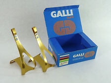 Pedal Toe Clips Large Gold Anodized Alloy Oro Vintage Road Bike Eroica Galli NOS