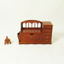 Hansson Miniature 1:12 - Walnut Linen Chest / Phone Table 8055