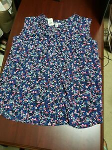 Motherhood Maternity Floral Sleeveless Shirt Top Blouse Extra Large XL NWT