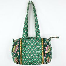 Vera Bradley Greenfield Barrel Vintage Handbag Purse Tote Shoulder Bag