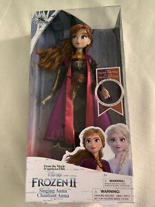 Original Disney Singende Anna Puppe - Die Eiskönigin 2  Frozen NEU, OVP