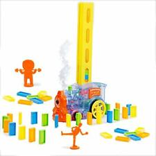 Domino Train Toy with Smoke Blocks Set, Automatic Building and Stacking,