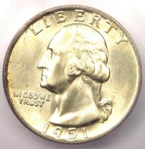1951-D Washington Quarter 25C - Certified ICG MS67 - $350 Guide Value in MS67!