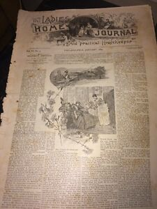 The Ladies Home Journal January 1889 Volume Six Number Two