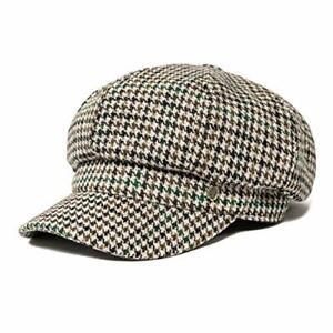 8 Panel Wool Tweed Newsboy Gatsby Ivy Cap Golf Cabbie Houndstooth Coffee