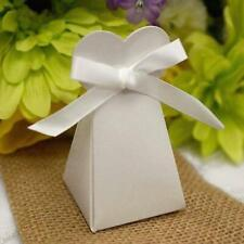 200 White TRIANGLE HEART Wedding FAVOR BOXES Catering Party GIFT Packaging SALE