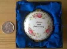 Trinket Pot Leonardo Ceramic 25th Anniversary Gift Roses