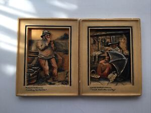 2 Vintage Osbourne Ivorex Plaques