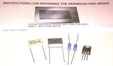 Kenwood Chef A901 Mixer Repair Kit Capacitors Resistors Triac & Instructions
