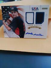 John Aiello 2012 Panini Usa Baseball Card #1 *Dbl Jersey Auto* #ed 45/49