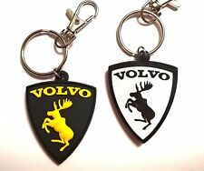 VOLVO moose keychain key ring fob - rubber emblem BLACK 2-sides avaimenperä