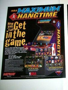 Midway NBA Maximum Hang Time Arcade POSTER Original Basketball Artwork 28 X 22.5