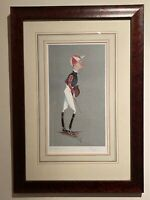 Jockey Caricature by SIMON DYER Limited Edition (65/100) Signed Framed & Mounted