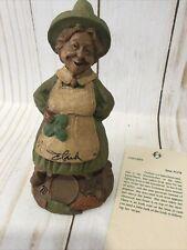 Tom Clark signed Colleen Leprechaun Lady 1178 Gnome