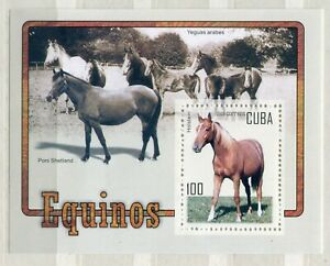 FAUNA_1097 2005 horses animals SHEET MNH Combined payments & shipping