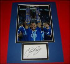 Danny Drinkwater Leicester City Autographed signed card & photo mount COA AFTAL