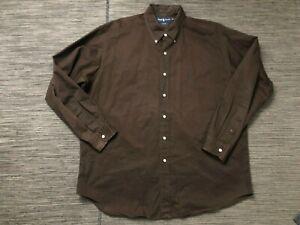 Ralph Lauren Adult Mens XL Blake Button Down Shirt  (Green Pony)