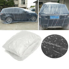 Clear Plastic Disposable Universal SUV Car Dust Snow Rain Cover Garage 7.5x4.8m