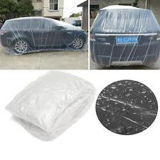 Clear Plastic Disposable Universal SUV Car Dust Snow Rain Cover Garage 7.5x4.8m