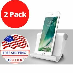 2Pack Universal Foldable Cell Phone Desk Stand Holder Mount For iPhone Tablet US
