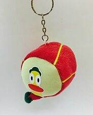 "Pocoyo Friend Pato Duck 2.5"" Plush Doll Drum Key Chain Ring KeyChain Dangler NEW"