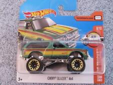 Hot Wheels 2017 # 130/365 Chevy Blazer 4x4 Verde HW Caliente Vagones
