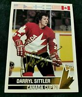 1992 Future Trends '76 Canada Cup Gold Autographs #175 Darryl Sittler Canada Cup