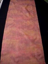 "f-206 vintage tsumugi silk kimono fabric - 14-1/2"" x 38"" dusty copper plum"