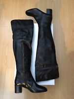 NEW OLIVER SWEENEY WOMENS OVER KNEE BOOTS BLACK LEATHER CAVRIGLIA LADIES UK 4 37