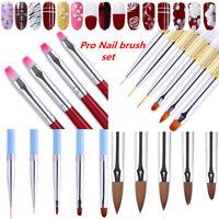 Acrylic UV Gel Nail Art Brush Set Painting Flower Liner Pen Manicure Nails Salon