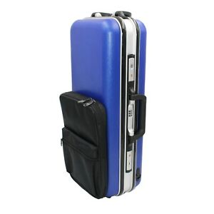 Eastern music light weight hard shell PC Alto Saxophone Case in solid blue color