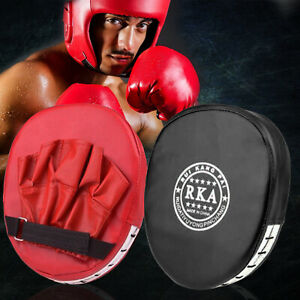 New Boxing Gloves and Focus Pads Set Hook & Jabs Mitts Punch Bag Gym Training