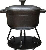 Bean Pot Tart Warmer wax fragrance oil mini black cast iron pot tea light scent