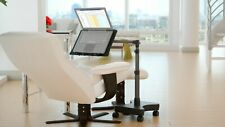 LEVO Rolling Laptop Workstation Stand Plus For Laptops, Tablets, Books, & Art