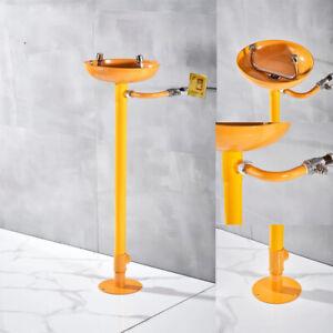 ABS Coating Emergency Eyewash Shower Station Eye Washer Bowl Safety Floor Mount