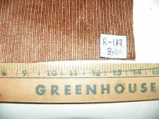 Brown Tan Stripe Chenille Fabric / Upholstery Fabric 1 Yard R119