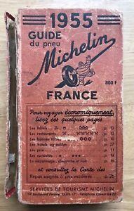Guide rouge Michelin 1955, couverture en petit état.