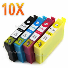 10x Ink cartridges T133 for Epson Stylus N11 NX125 NX130 NX230 NX420 Non-OEM
