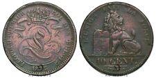 10 centimes 1832  Léopold Premier Monogramme Lion Belgique - Cuivre