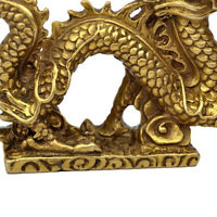 Office Chinese Style Dragon Statue Craft Feng Shui Luck Study Sculpture