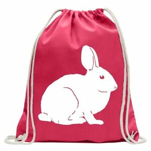 Rabbit Motif 1 - Karnickel Stall Gym Bag Fun Backpack Sports Pouch Gymsack Pull