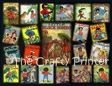 "BLACK AMERICANA -  LITTLE BLACK SAMBO Collage MAGNET - Size 5"" x 7"" - Ship Free!"