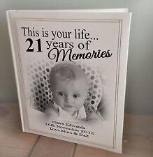 Personalised large luxury photo album, memory book, 21st birthday present