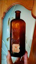 500 ml Antique bottle POISON GIFT Germany medicine brown glass 1900 Skull bones