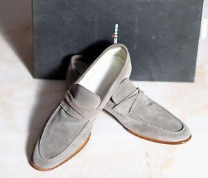 NWB $1475 KITON Gray Suede Shoes 9UK/10US/43EU EE Width