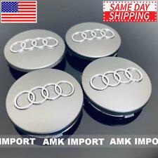 4X Pc Gray Wheel Rim Replacement Center Hub Caps for Audi 60Mm 4B0601170 Chrome